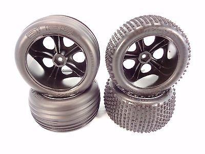 Traxxas All Star Chrome Wheels//Talon Tires 2WD Electric Rear *NIP* 3668