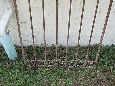Antique Victorian Iron Gate Window Garden Fence Architectural Salvage Door #53 3