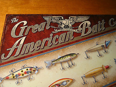 Fishing Lodge Sign Rustic Fisherman Home Decor BAIT /& LURES GUARANTEED TO CATCH