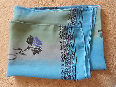 1 NEW Colourful Mixed Fibre Ladies Scarf SHADES OF BLUE ~ Gift Idea #36