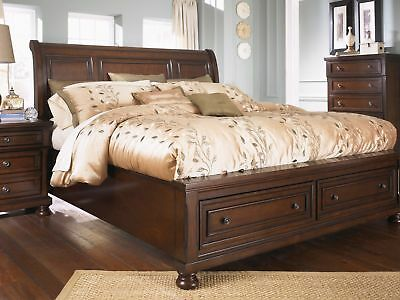 ASHLEY FURNITURE PORTER Queen Sleigh Storage 6 Piece Bedroom ...