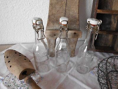 Dänemark Shabby Deko Glasflaschen Flasche Antik Denmark Alt 3 Stück 🌷🌷🌷 3