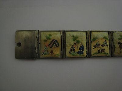 ancien bracelet argent et nacre 2