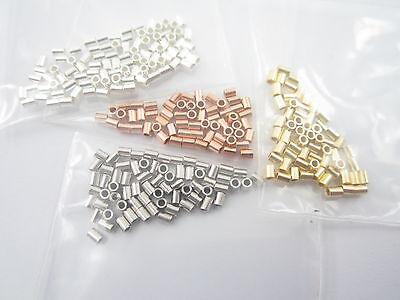 1 grammo di schiaccini speciali tubolari argento 925 rodiati made in  italy 3