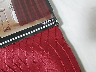 New DH Dainty Home INTERSECTION Fabric Shower Curtain 72X72 Wine Paprika NIP