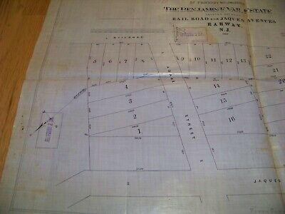 1869 Map Rahway NJ Benjamin F. Vail James S. Vosseller Sauerwein Thomas Archer 3