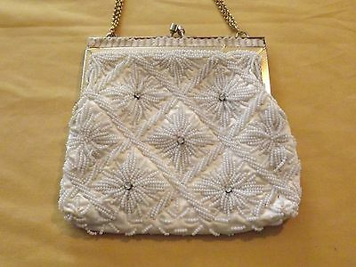 1 Of 12 Vintage Women S Pocketbook Handbag Beaded Clutch Evening Bag Purse