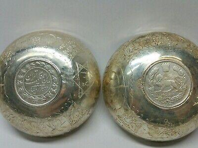 Antigüedad Plata de Ley Judaísmo Medio Oriental Moneda Shabbat Vino Copa Bowl 2