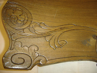 Chestnut Pediment Chair Top  Decorative Architectural Wall Hanging Crown 6675h 2