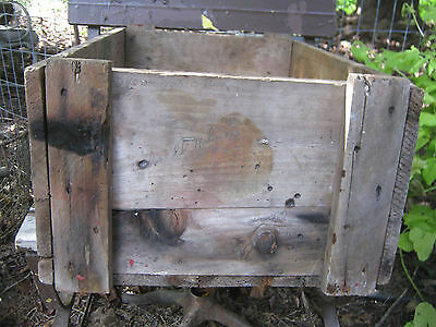 Antique Primitive Ct Country Hardware Store Wood Box Clark Bolt Co Usa Tool Sign 2