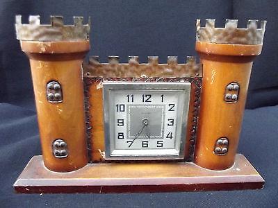 Rare BAYARD castlle wood clock; 6