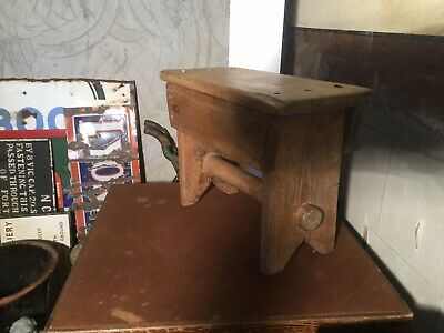 Antique Vintage Small Wooden Farmers Milking Stool 4