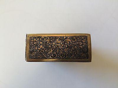 Classic Cigarette Box - 19th Ct. Persian Qajar - Signature Brass Engraved Design 7