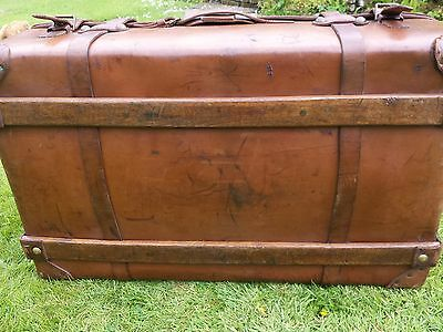 1920s Leather Steamer Trunk 4