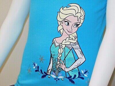 Disney Frozen Little Girls 2-Piece Elsa T shirt & Scooter Skirt Set OFFICIAL DIS 5