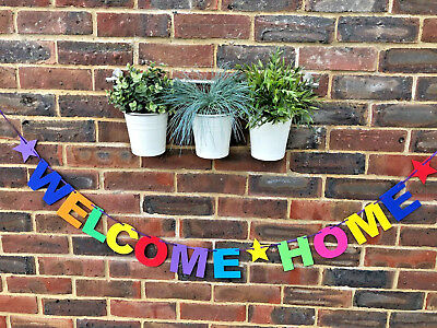 Personalised Welcome Home Banner Bunting Decoration Multi-Colour New Arrival 3