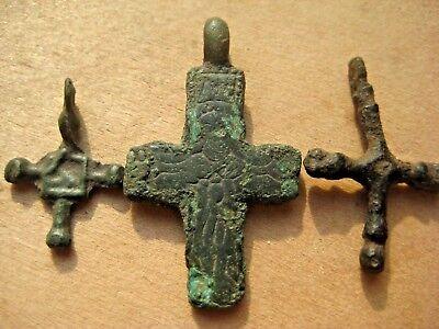 ANCIENT BYZANTINE Scandinavian RELIQUARY CROSS 10-12 century AD 6