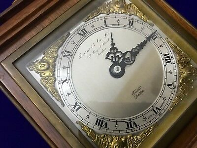 Vintage Garrard & Co Ltd London Elliot Mahogany 8 Day Oak Mantle Carriage Clock 5