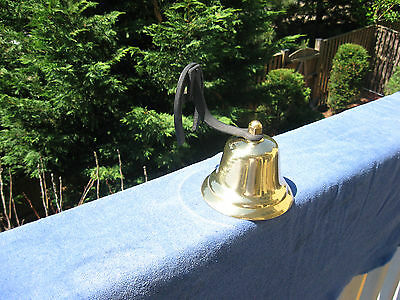 Vintage Brass Dinner/Farm Bell With Horseshoe Mount~Made In Japan