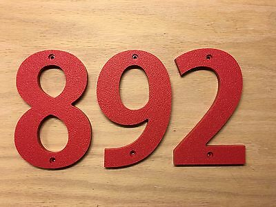 color choices 10 inch Bold House Numbers Letters