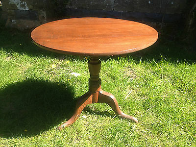 Antique GEORGIAN GEORGE III Oak Snap Tilt Top Tripod Table c1780OccasionalDining 2