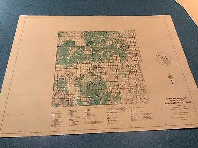 1974 South - Menominee County Michigan  DNR Highway & Recreation Information Map 2