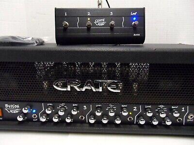 VTG Crate BV150H BV 150 Watt Tube Blue Voodoo 3 Channel Guitar Amp Head Loop 4
