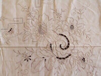 Mantel Antigua Colada de Mesa Antiguo Mobiliario Bordado Decoración Flores 5
