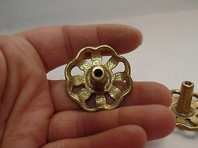 2 Vintage Brass Filigree Drawer Pull