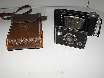"Vintage Kodak Jiffy Strut Film Camera And Case ""In Good Vintage Condition"""