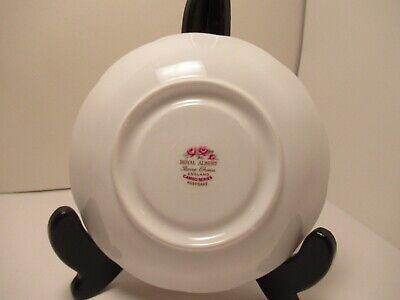 "Royal Albert English China Cup&Saucer ""Cameo Series Keepsake"" White & Pink 6"