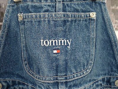 62e9368c ... 90s Tommy Hilfiger 6X Teen Overalls Jeans Flag Sport Aaliyah Polo NYC  HipHop VTG 4