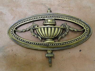 2 Vintage Brass Oval Pierced Decorative Pieces 3