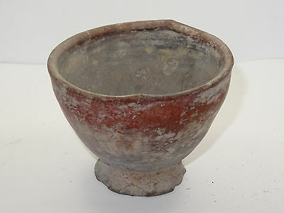 "Antique Pre-Columbian Oaxaca Valley Vessel Bowl   ~ 3.5"" 6"