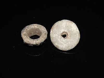 A set of  Perfect Roman Lead spindle whorls 1 BC - 1 AD 4