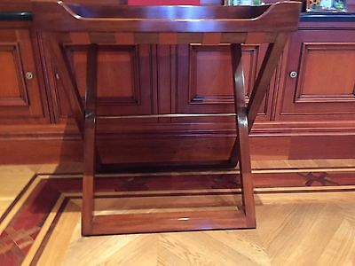 Magnificent Ralph Lauren Buttler Wooden Table Signed