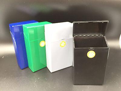 Blau Zigarettenbox Kunststoff Zigarettenetui XL BIG BOX f/ür 25 Zigaretten mit Push Open Funktion