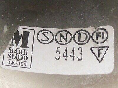 Swedish Rare ceiling vintage brass  faceted smoke glass VINTAGE  LAMP Mark Slöjd 3
