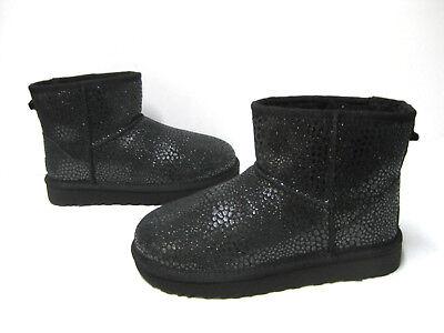 8ada5551cd0 UGG CLASSIC MINI Glitzy Women Ankel Boots Black Us 10 /uk 8.5 /eu 41