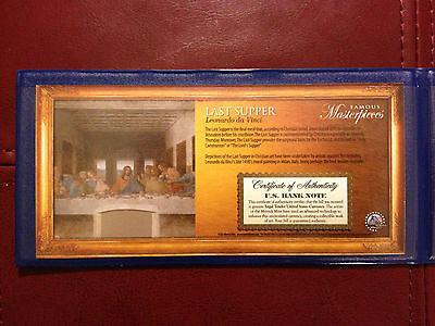 USA $2 Dollar Bill Leonardo Da Vinci 1495 THE LAST SUPPER Legal Tender Mint