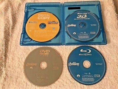 The Avengers (Blu-ray 3d DVD, 2012, 4-Disc Set 6