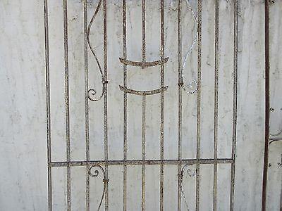 Antique Victorian Iron Gate Window Garden Fence Architectural Salvage Door #371 3