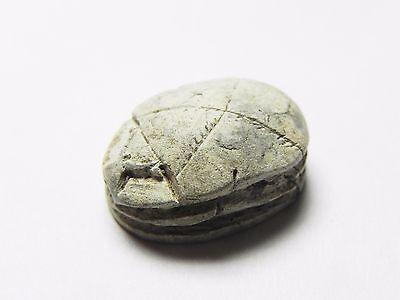 Zurqieh -Cy78- Ancient Egypt , 2Nd Intermediate  Steatite  Scarab. 2000 B.c 3