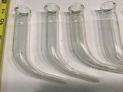 """Lot of 10 Kimax (USA) Bent Tube Adapter 5 3/4"""" tall 1 1/8"""" ID--clean 2"""