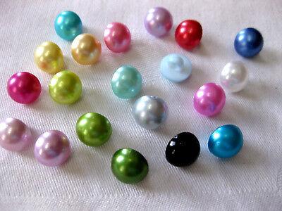 15 Knöpfe perlenförmig 10mm, verschiedene Farben,Farbe wählbar, K112 2