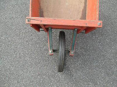 orange WOOD wheelbarrow  HORTICULTURIST original  VINTAGE - 1900's  WHEEL BARROW 4