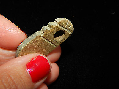 Pre-Columbian Effigy Pendant, Central America, Authentic, Ancient Pendant 7