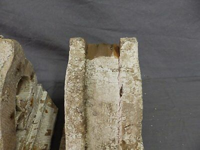 Antique Pair Corbels Wood Small Victorian Architectural Shabby Vtg Chic 517-17P 5