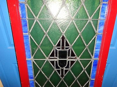 "STUNNING Vintage Arched Stained Glass Window, 5'  9-1/2"" Tall 6"