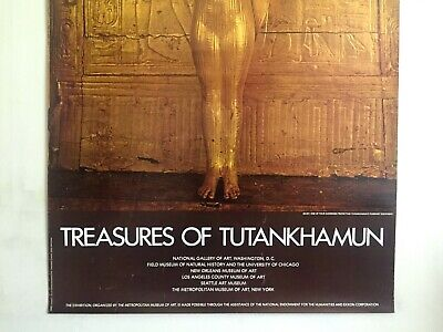 "Rare Vintage 1976 ""Treasures Of Tutankhamun"" Iconic Lrg Museum Exhibition Poster 3"